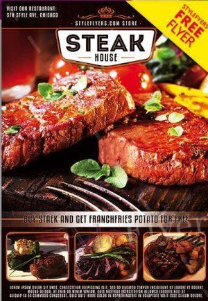 Steak House FREE PSD Flyer Template