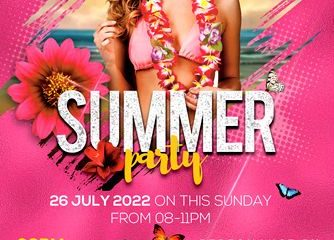 Summer Party Free PSD Flyer Template