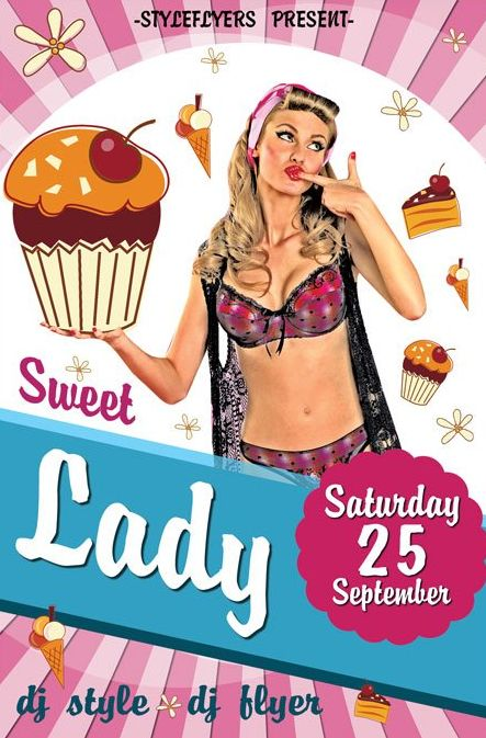 Sweet Lady FREE PSD Flyer Template