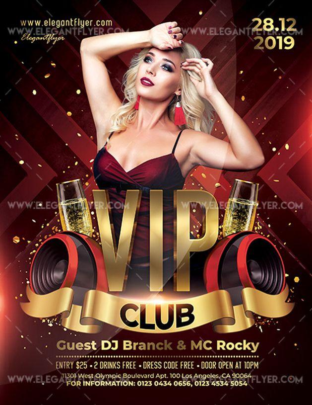 VIP Club – Free Flyer PSD Template
