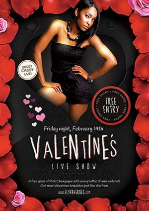 Valentines Live Show Free PSD Flyer Template