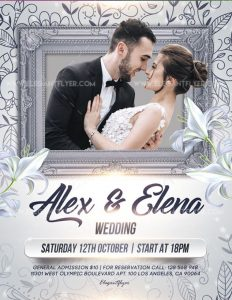 Wedding – Free Flyer PSD Template