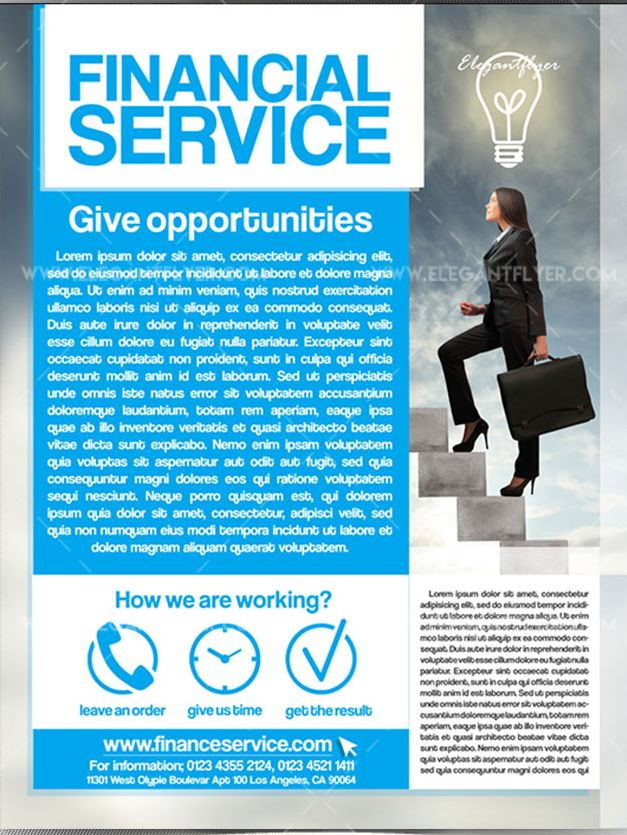 Financial service – Free Flyer PSD Template