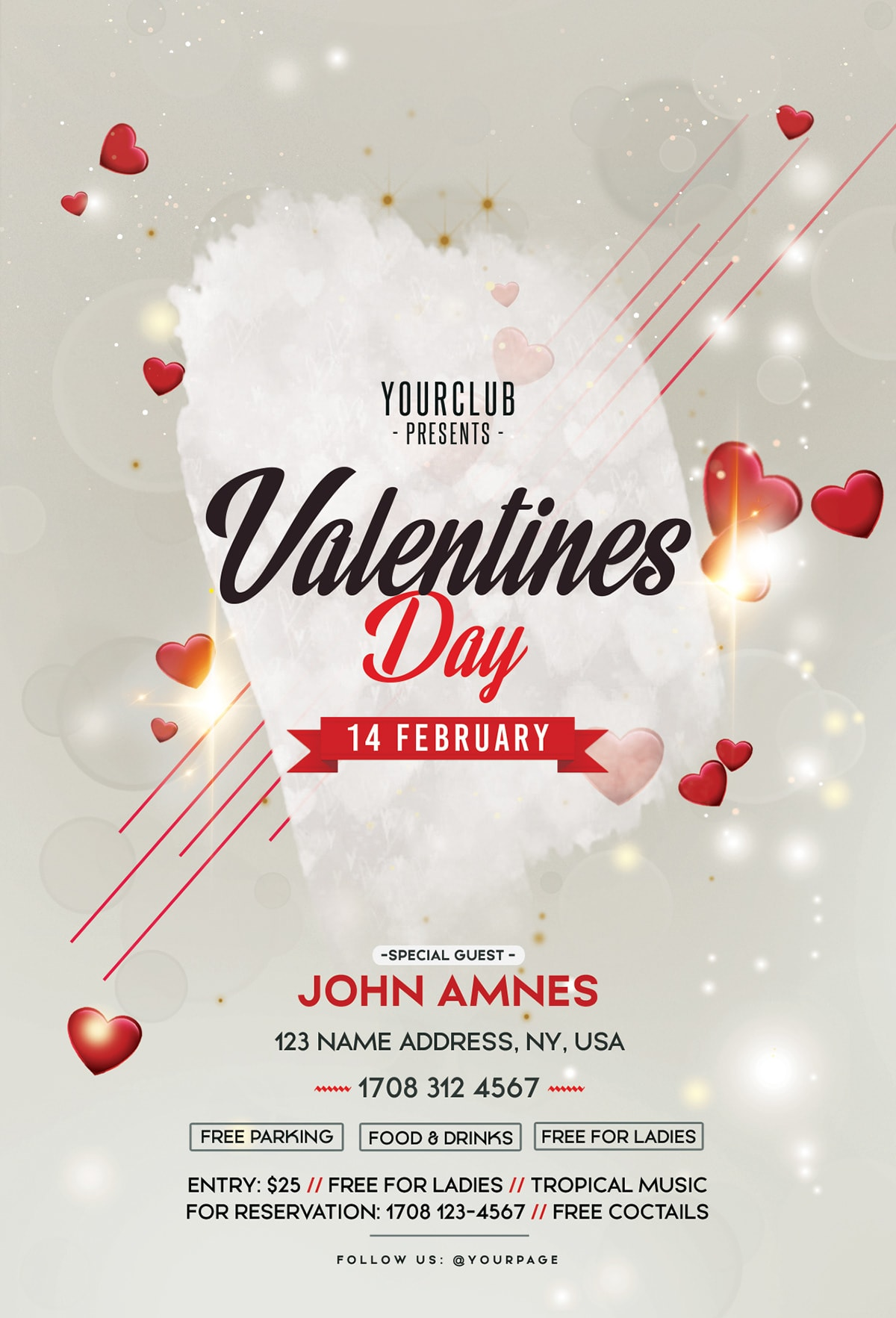 Free Valentine's Day 2019 PSD Flyer Template