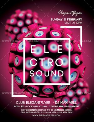 Electro Sound – Free Flyer PSD Template