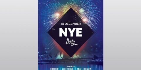 2020 NYE Party – Free New Year PSD Flyer