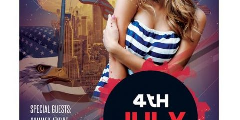 4th of July – Free PSD Flyer Template