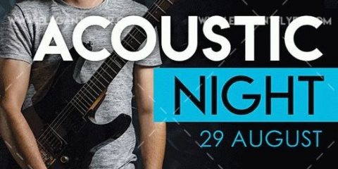 Acoustic Night – Free Flyer PSD Template