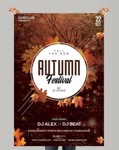 Autumn Festival – Free PSD Flyer Template