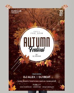 Autumn Festival – Free PSD Flyer Template