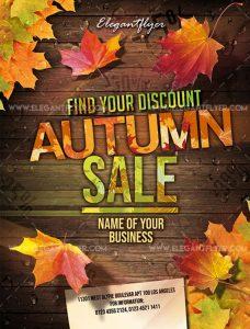Autumn sale – Free Flyer PSD Template