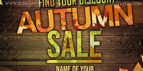 Autumn sale – Free Flyer PSD Template