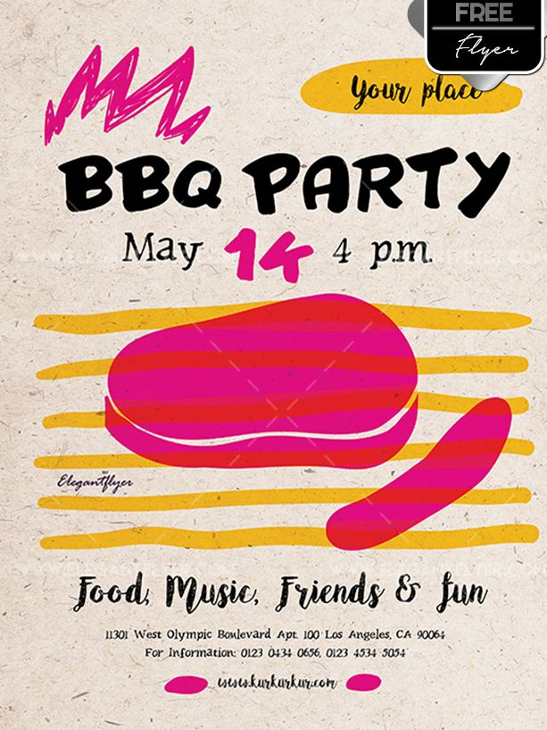 BBQ Party Free PSD Flyer Template