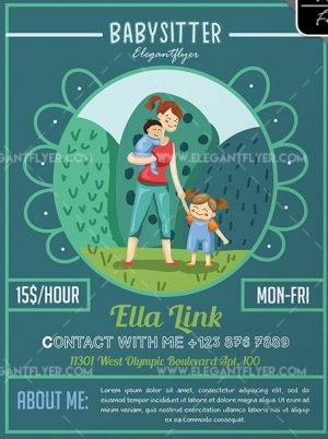 Babysitter – Free Flyer PSD Template