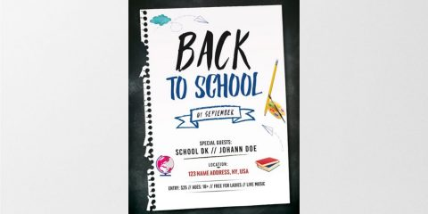 Back to School – Free PSD Flyer Template
