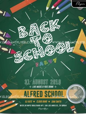 Back to School Party – Free Flyer PSD Template