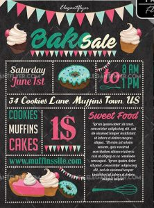 Bake Sale Free PSD Flyer Template