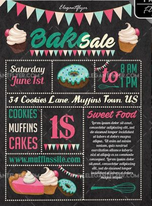 Bake Sale Free PSD Flyer Template