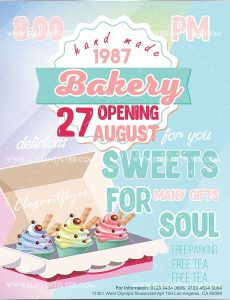Bakery Hand Made – Free Flyer PSD Template