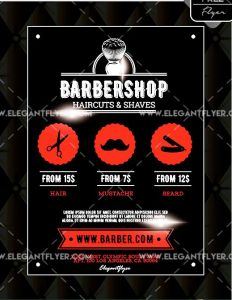 Barbershop FREE Flyer PSD Template