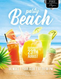 Beach Party – Free Flyer PSD Template