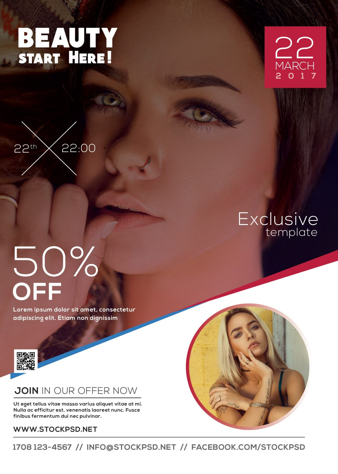 Beauty – Free PSD Flyer Template