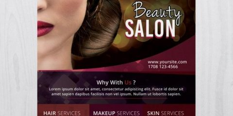 Beauty Salon – Free PSD Flyer Template