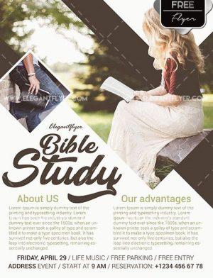 Bible Study Free PSD Flyer Template