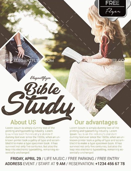 Bible Study Free PSD Flyer Template