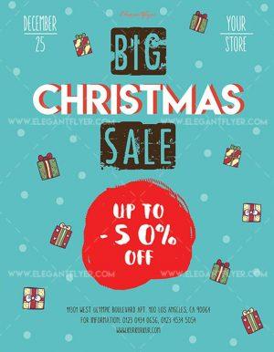 Big Christmas Sale – Free Flyer PSD Template