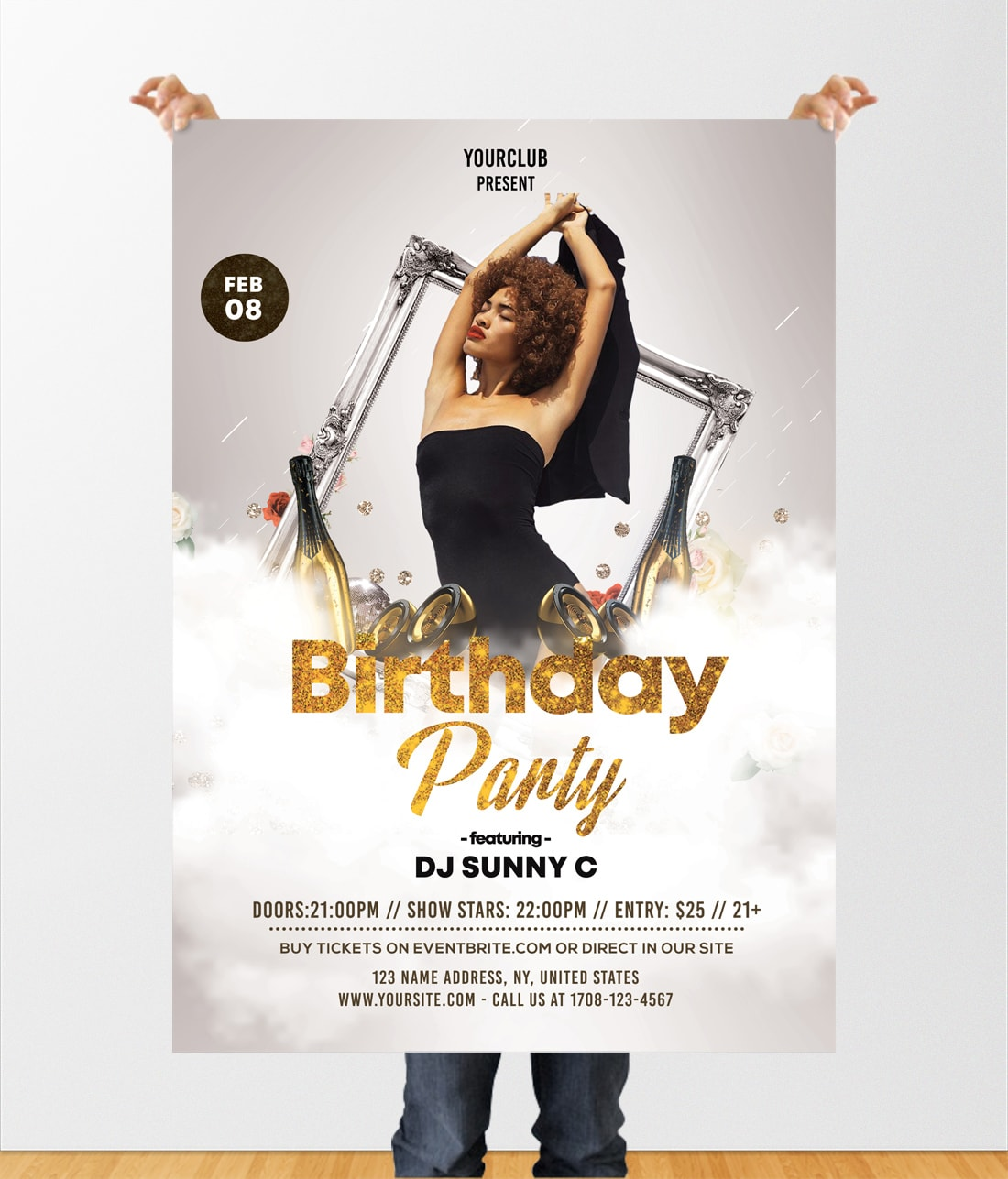Birthday Party Free PSD Flyer Template