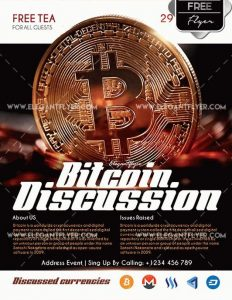 Bitcoin Discussion Free PSD Flyer Template
