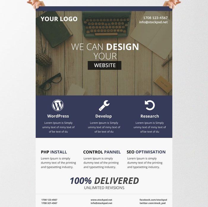 Business Flyer – Free PSD Template