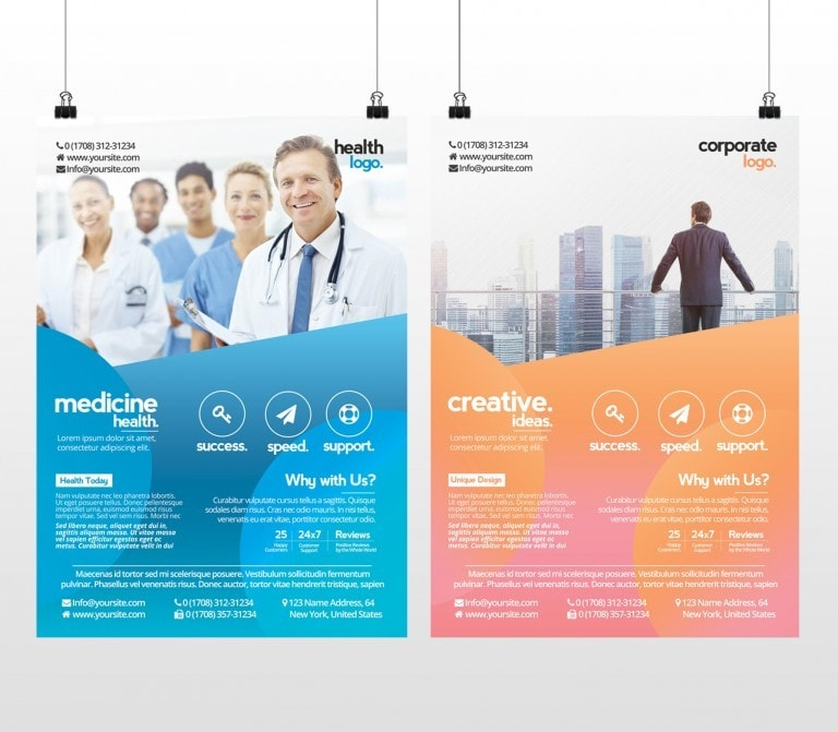 Business and Medicine Health – Free PSD Flyer Template