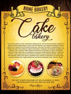 Cake Bakery – Free Flyer PSD Template
