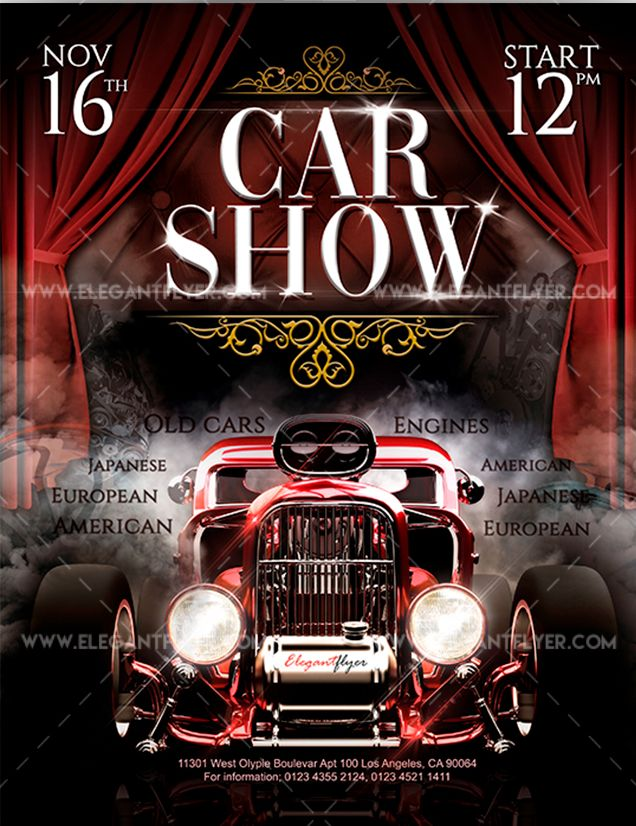 Car Show – Free Flyer PSD Template