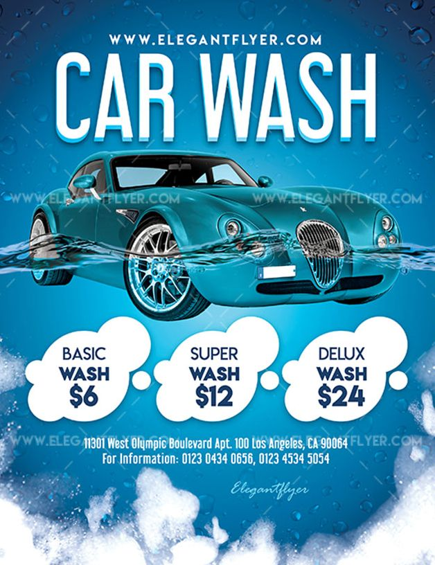 Car Wash FREE PSD Flyer Template