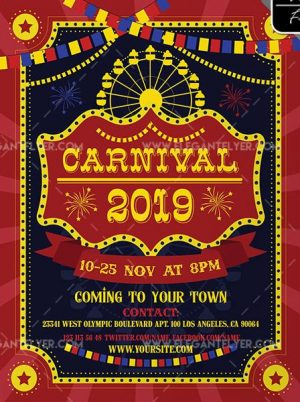 Carnival Free PSD Flyer Template