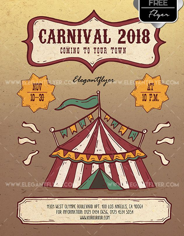 Carnival Free PSD Flyer Template - psdFlyer co