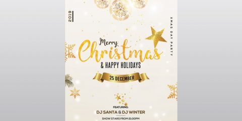 Christmas & Holiday – Free Flyer PSD Template