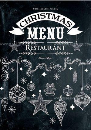 Christmas Menu Restaurant – Free PSD Flyer Template