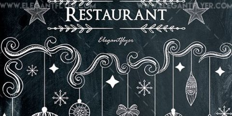 Christmas Menu Restaurant – Free PSD Flyer Template