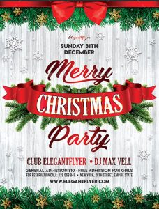 Christmas Party – Free Flyer PSD Template