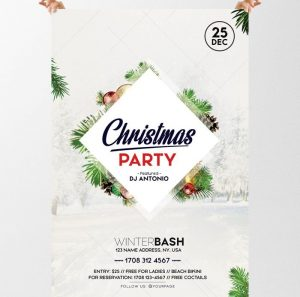 Christmas Party – Free PSD Flyer Template