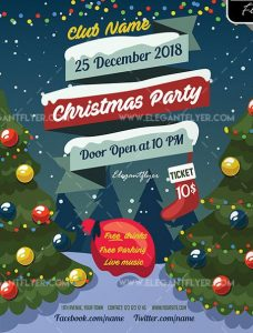 Christmas Tree Free PSD Flyer Template