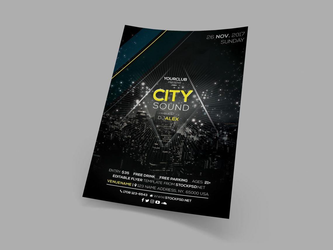 City Sound – Free PSD Event Flyer Template - psdFlyer co