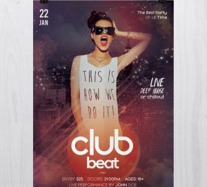 Club Beat –Free PSD Flyers Templates