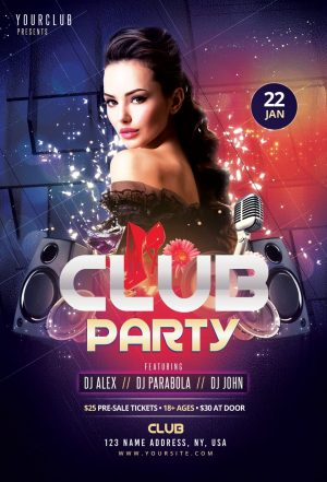 Club Party – Free Flyer Template