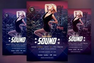 Club Sound – Free PSD Flyer Template