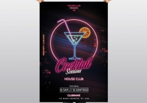 Cocktail Sessions – Free PSD Flyer Template